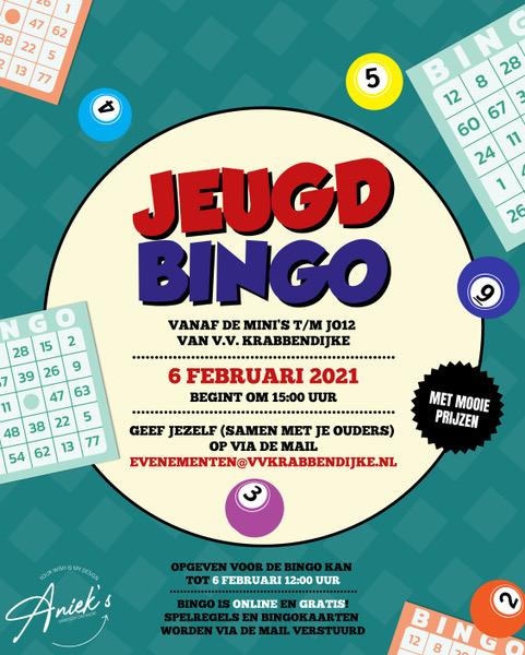 Zaterdagmiddag 6 februari: Jeugdbingo voor pupillen